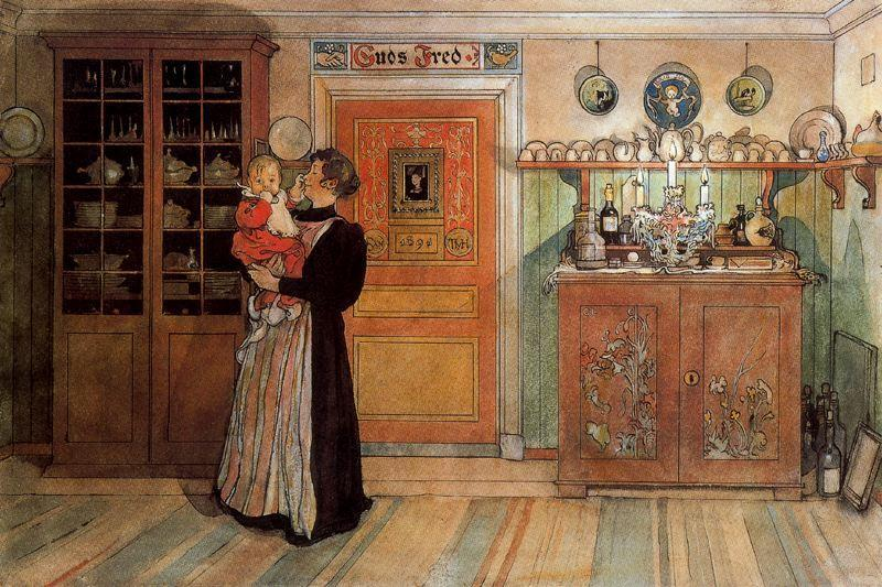 Carl-Larsson-Between-Christmas-and-New-Year