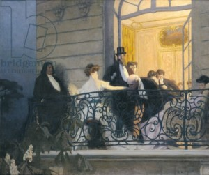 The Balcony (oil on canvas)