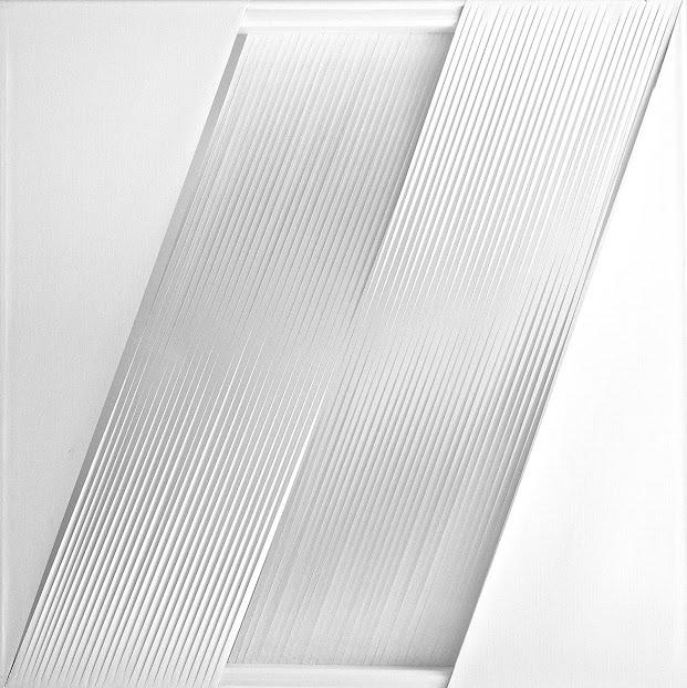Espace vide,deux dimensions diagonals 80x80cm,2012